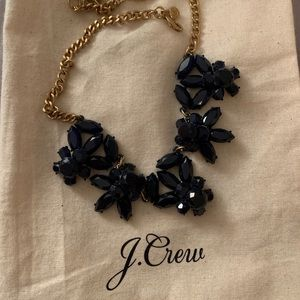 Navy blue J. Crew statement necklace